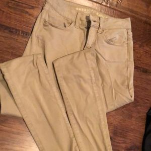 American Eagle size 00 khaki jeggings